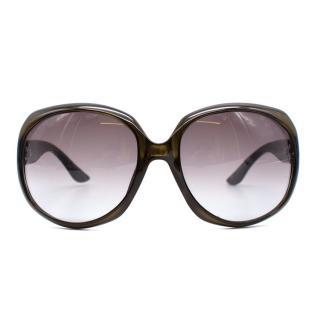 Dior Glossy Square-Frame Sunglasses