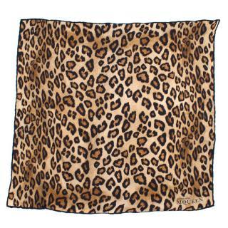 Alexander McQueen Leopard Square Scarf