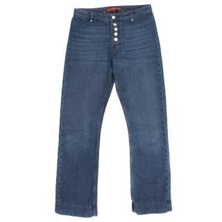 Alexa Chung Blue Kick Flare Jeans