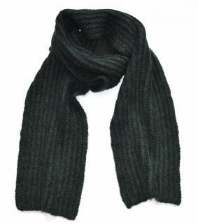 Marni alpaca wool blend khaki scarf
