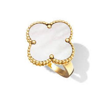 Van Cleef & Arpels Magic Alhambra 18K Yellow Gold Mother of Pearl Ring