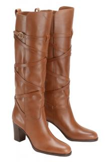 YSL Tan Leather Long boots