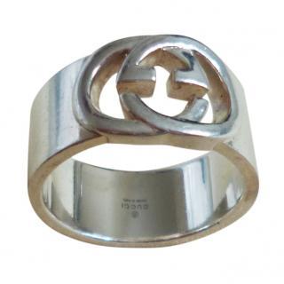 Gucci Silver Logo Ring