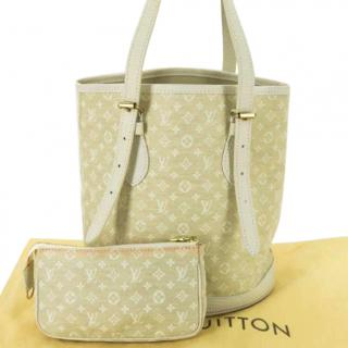 Louis Vuitton Bucket Monogram Mini Lin Shoulder Tote