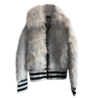 Joseph Mongolian Fur Bomber Jacket
