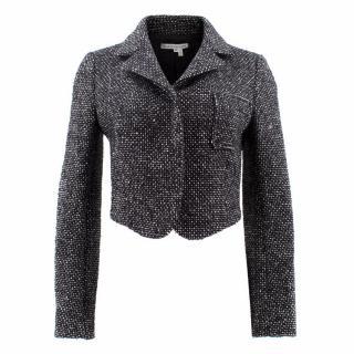 Balenciaga Black and White Wool Tweed Jacket