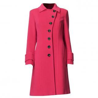Laurel Red Virgin Wool & Angora Coat