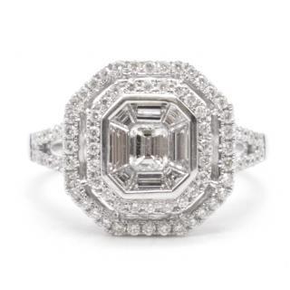 Bespoke Diamond cluster Ring 18ct gold