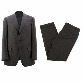 Boggi Pin Stripe Wool Suit
