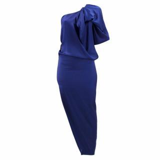 Stella McCartney One-Shoulder Silk Dress