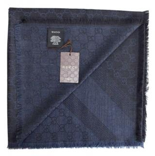 GUCCI Scarf DARKBLUBLACK NEW