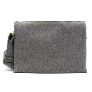 Celine Trio Bag in Grey Felt