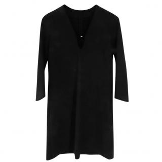 Maje Black Stretch Shift Dress