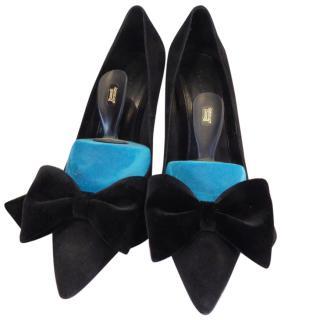 Kooples Black Suede Stiletto Shoes