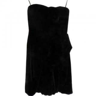 Marc by Marc Jacobs Black Velvet Strapless Dress