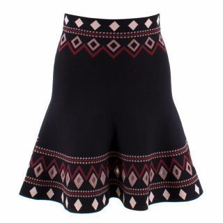Alexander McQueen High Rise Woven Skirt