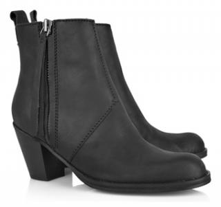 Acne Black Pistol Boots