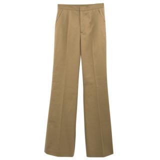 Red Valentino Khaki Straight Leg Pants