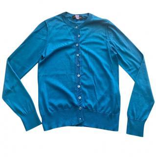 Dolce & Gabbana Blue Silk Cardigan