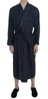 Dolce & Gabbana Navy Polka Dot Robe