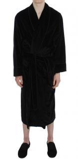 Dolce & Gabbana Black Velvet Robe
