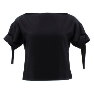 Marni Black Open Neck Top