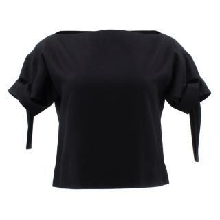 Marni Black Open Neck Top