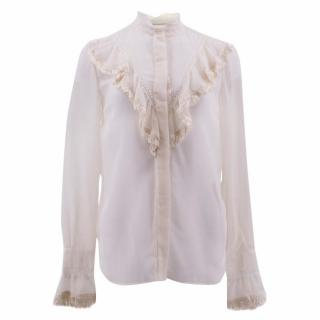 Stella McCartney Ruffled High-neck Blouse