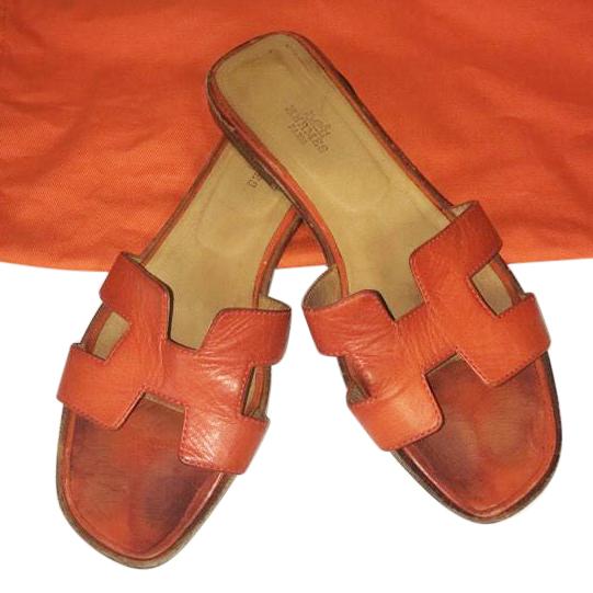 7ad65fcc2901 Hermes Oran Sandals Size 5 38