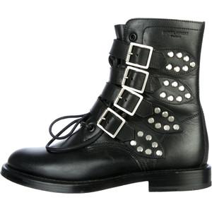 Deals Sale Online Pre-owned - Leather buckled boots Saint Laurent Cheapest Finishline Online Sale Good Selling Fast Delivery u6Ejpb
