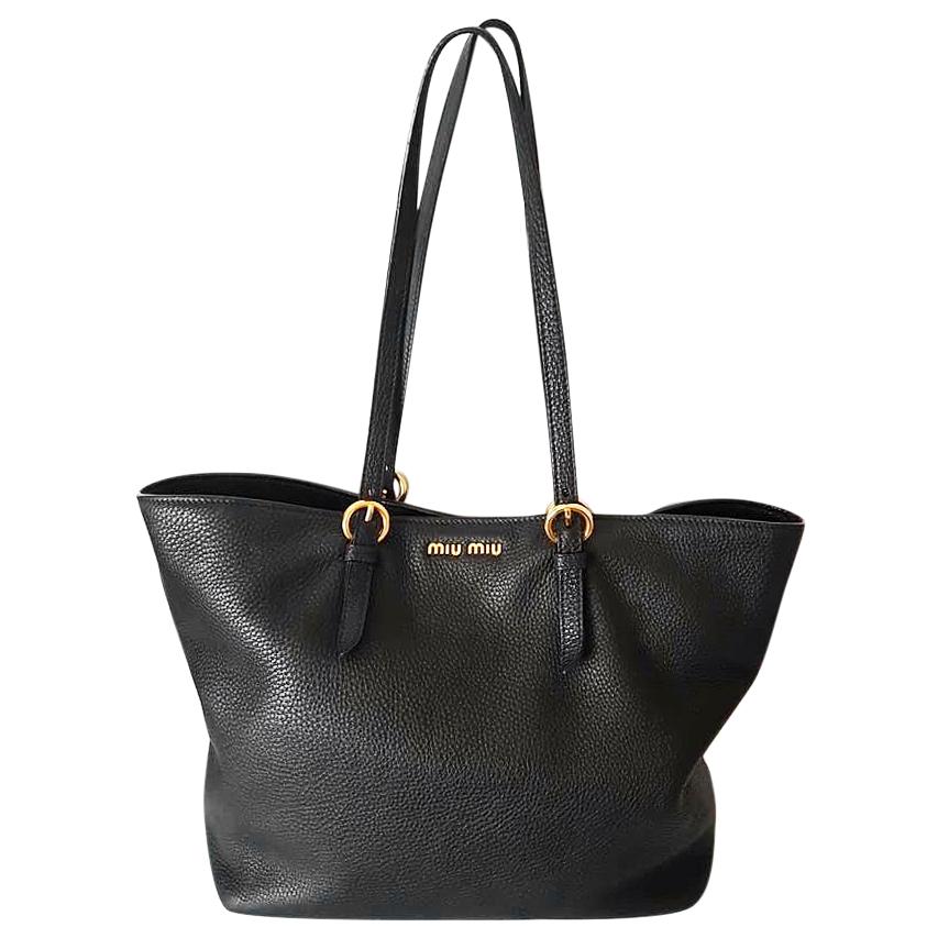 934e6f03c2f2 Miu Miu Vitello Daino Tote Shopping Bag126144