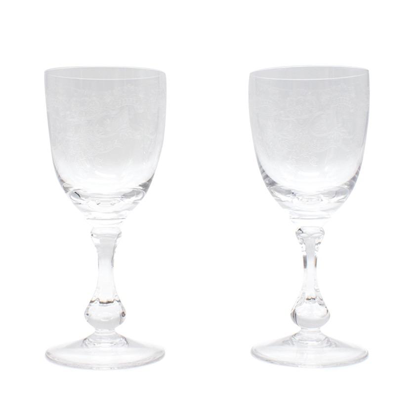Cristal de Sevres Set of Two Crystal Glasses