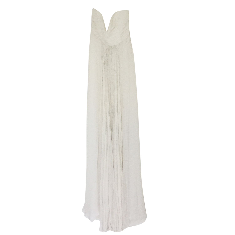 Alberta Ferretti Long Silky Maxi Dress