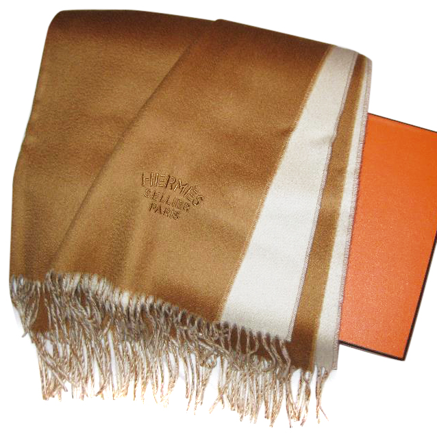 Hermes Double Sided Cashmere Stole