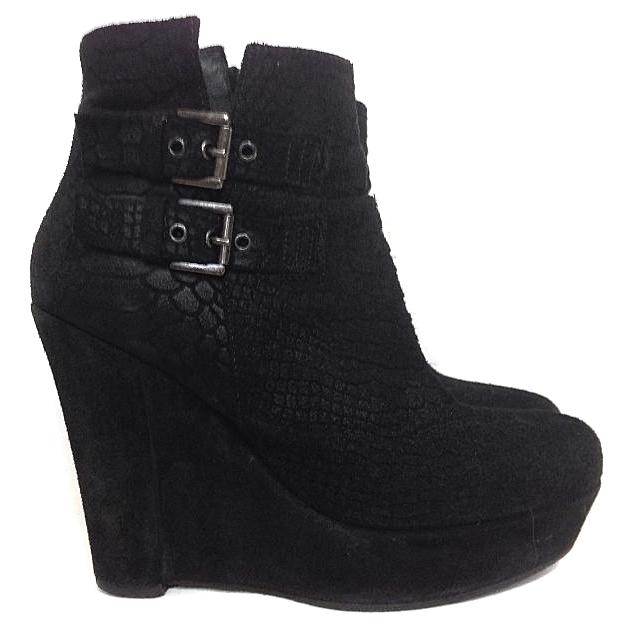 Kooples Black Suede Heels