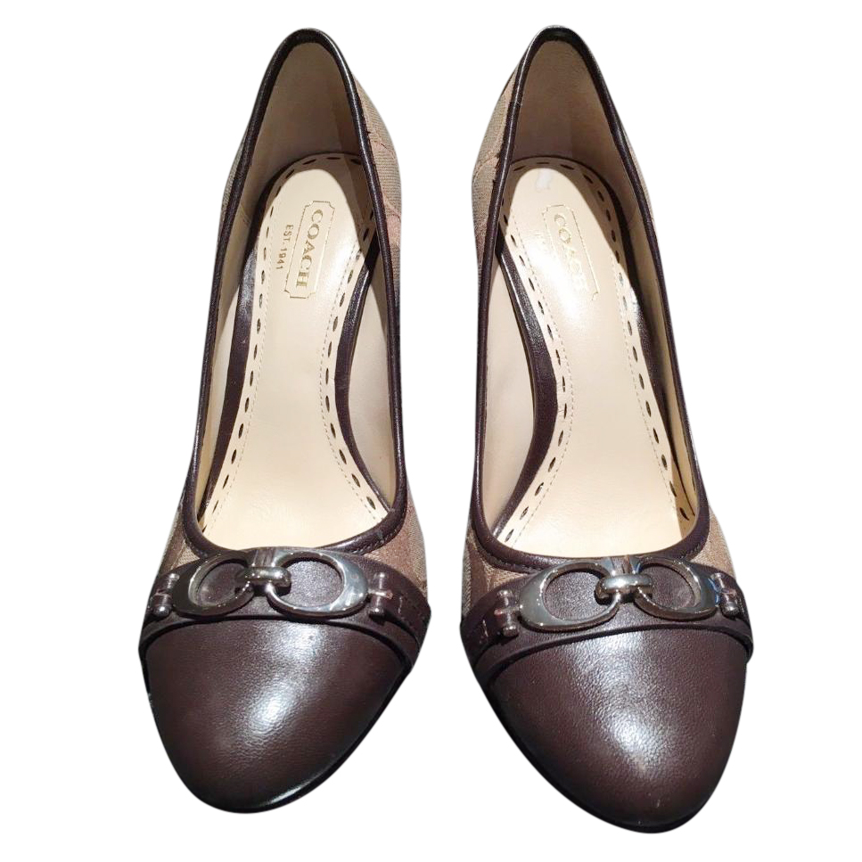 Coach Monogrammed Pumps