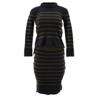 Alexander McQueen Striped Jumper and Skirt Set