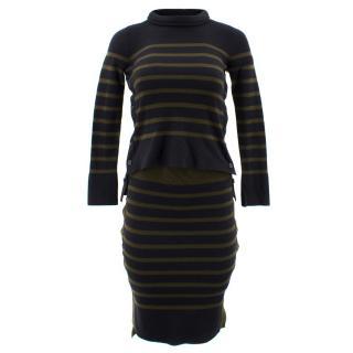 Alexander McQueen Striped Jumper and Skirt Set