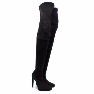 Casadei Suede Over The Knee Boots