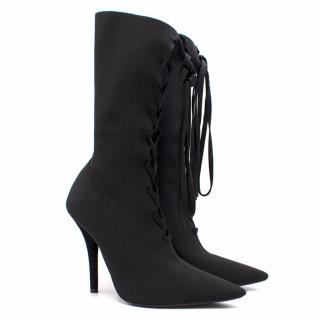 Yeezy Lace-Up Knit Ankle Boots (SEASON 5) Current Collection