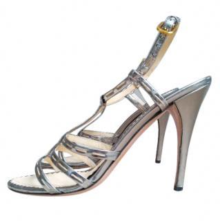Prada Pewter Heels
