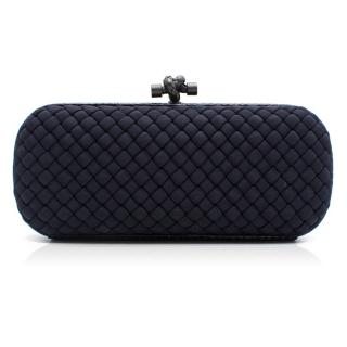 Bottega Veneta Navy Stretch Knot Clutch