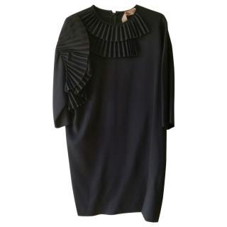 No.21 Black Dress with Pleats
