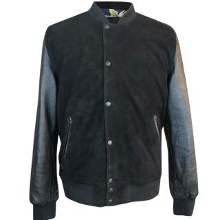 Schott Goat Suede & Lambs Leather Baseball Jacket