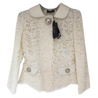 Dolce & Gabbana White Lace Jacket