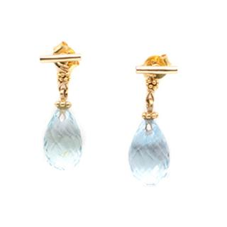 Bespoke Aquamarine Pendant Earrings