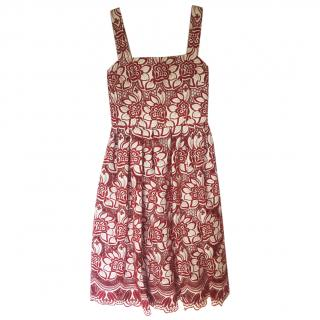 Dolce & Gabbana Embroidered Cut Out Dress