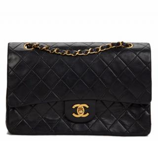 Chanel Quilted Lambskin Vintage Medium Classic Double Flap Bag