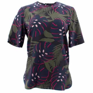 Markus Lupfer Silk Leaf Print Top