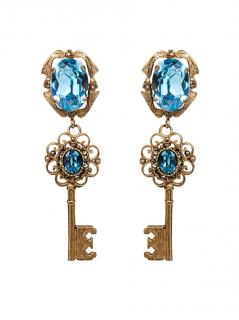 Dolce & gabbana Blue Keys Earrings
